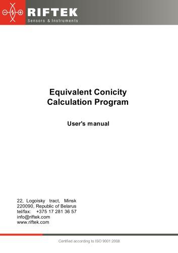 Equivalent conicity calculation program