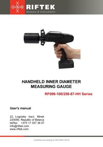 Hendheld Inner Diameter Measuring Gauge, Manual