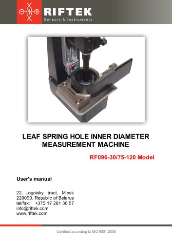 Leaf Spring Hole ID Measurement Machine