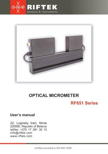 Optical Micrometers RF651 Series