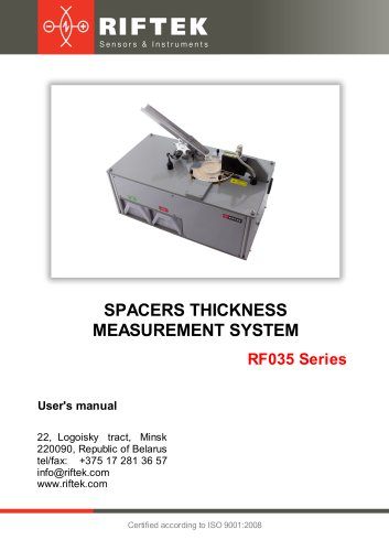Spacer Thickness Measurement System RF035 Series