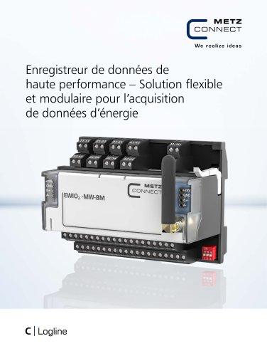 C|Logline - Enregistreur de données de haute performance – Solution flexible et modulaire pour l'acquisition de données d'énergie