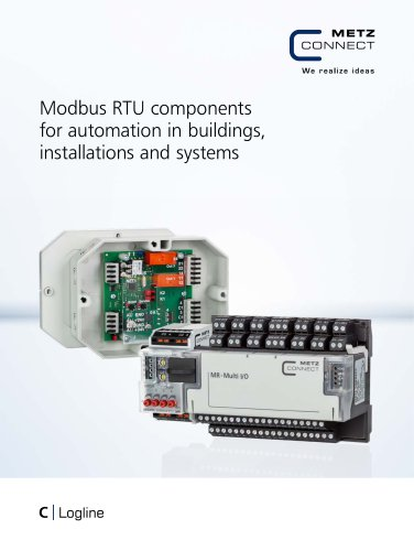 C|Logline - Modbus RTU components for automation in buildings, installations and systems