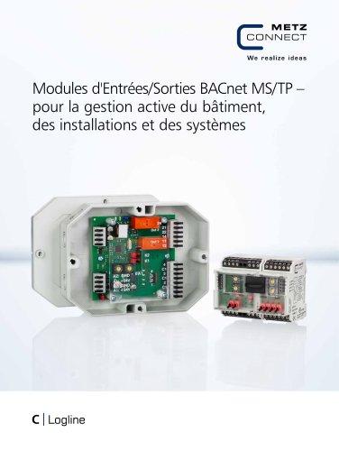 C|Logline - Modules d'Entrées/Sorties BACnet MS/TP – pour la gestion active du bâtiment, des installations et des systèmes