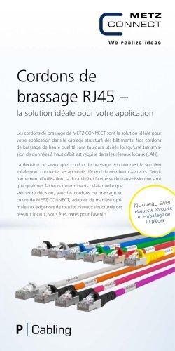 Cordons de brassage RJ45 – la solution idéale pour votre application