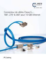 P Cabling - Connecteur de câbles Classe EA – 180°, 270° & 360° pour 10 GBit Ethernet - 1