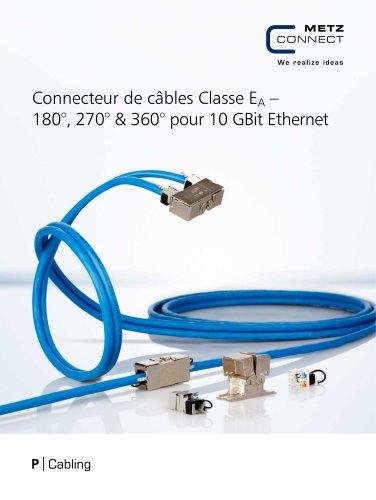 P|Cabling - Connecteur de câbles Classe EA – 180°, 270° & 360° pour 10 GBit Ethernet