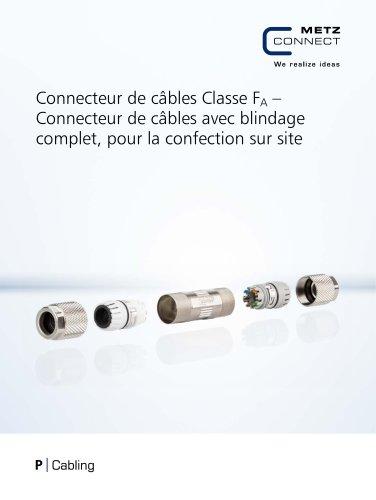 P|Cabling - Connecteur de câbles Classe FA – Connecteur de câbles avec blindage complet, pour la confection sur site