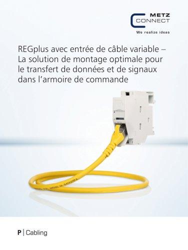 P|Cabling - REGplus avec entrée de câble variable – La solution de montage optimale pour le transfert de données et de signaux dans l'armoire de commande