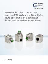 P|Cabling - Traversées de cloison pour armoire électrique M12, codage X et D sur RJ45 - 1