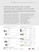 P|Cabling - Traversées de cloison pour armoire électrique M12, codage X et D sur RJ45 - 2
