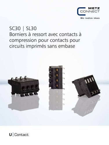 U|Contact - SC30 | SL30 Borniers à ressort avec contacts à compression pour contacts pour circuits imprimés sans embase
