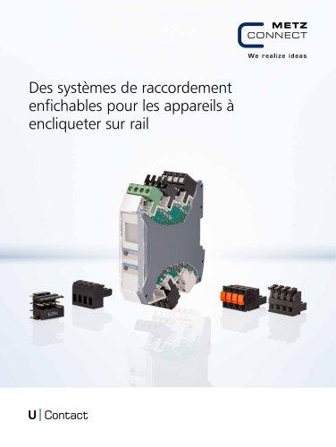 U|Contact - Des systèmes de raccordement enfichables pour les appareils à encliqueter sur rail