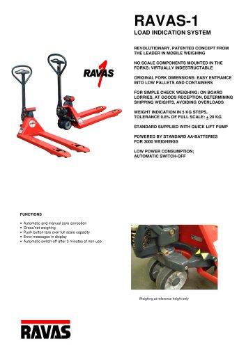 Pallet truck scales RAVAS-1