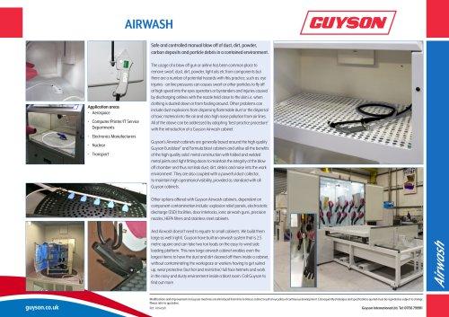Guyson Airwash Leaflet