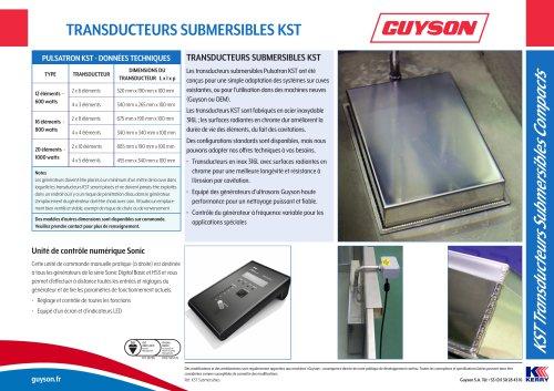 Les KST transducteurs submersibles
