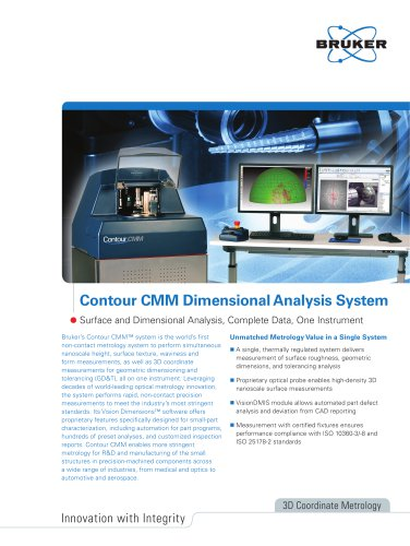 Contour CMM Dimensional Analysis System