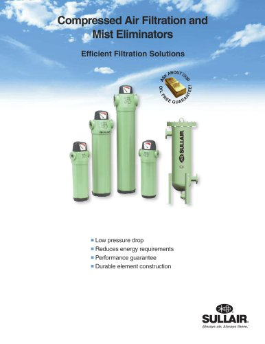 Compressed Air Filtration and Mist Eliminators