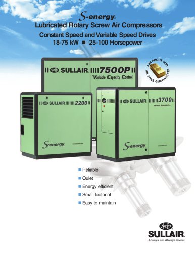 Lubricated Rotary Screw Air Compressors