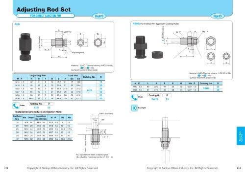 Adjusting Rod Set (For Direct Ejection Pin)