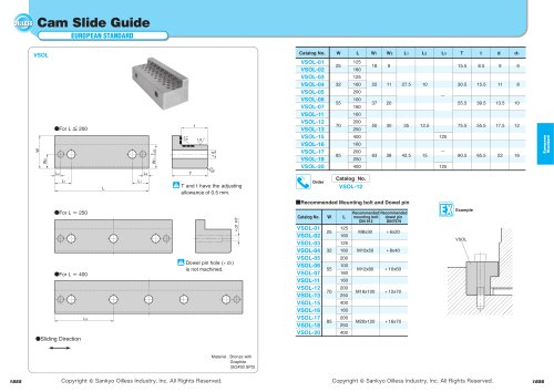 Cam Slide Guide (L Type)