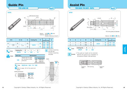 Die Guide Related Parts:Assist Pin