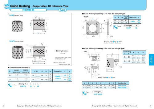 Die Guide Related Parts:Guide Bushing for  Large Die