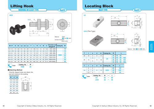 Die Setting Components:Lifting Hook