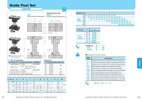 Guide Post Set Plain Type