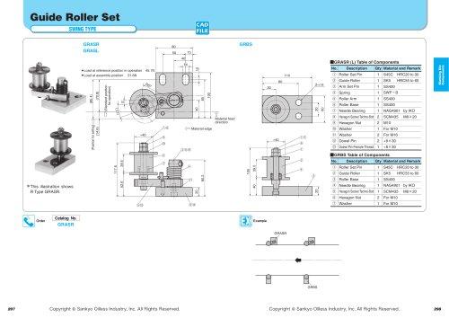 Guide Roller Set Swing Type