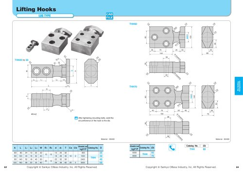 Lifting Hooks Lug / Regular Type