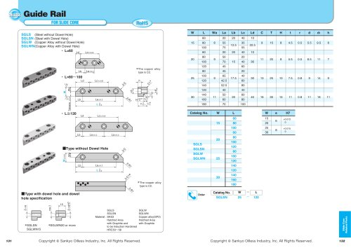 Slide Core Related Parts:Guide rail