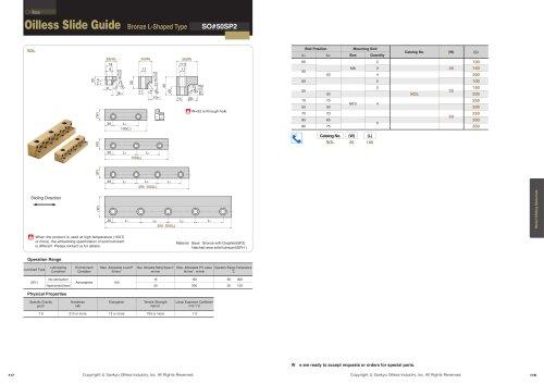 Slide Guide Bronze L-Shaped type