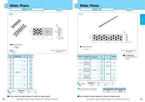 Slide Plate Blank Type