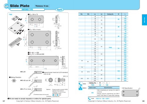 Slide Plate Thickness 10mm-Sintered Type