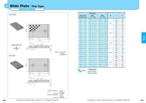 Slide Plate VSM SP2,ST