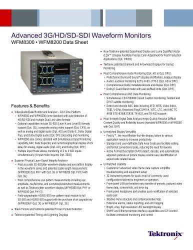 Advanced 3G/HD/SD-SDI Waveform Monitors WFM8300 ? WFM8200