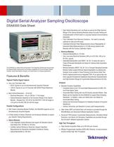 Digital Serial Analyzer Sampling Oscilloscope