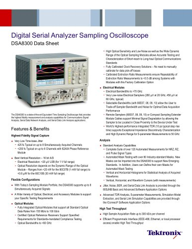 Digital Serial Analyzer Sampling Oscilloscope