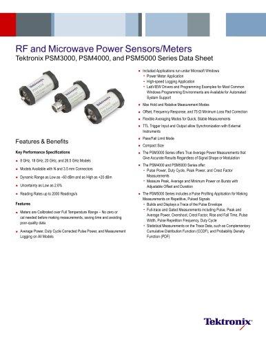 RF and Microwave Power Sensors/Meters