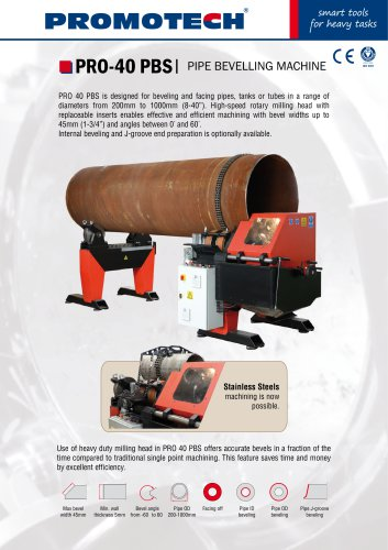 PRO-40_PBS Stationary Pipe Bevelling Machine