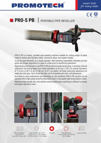 PRO-5 PB Compact Pipe Beveller