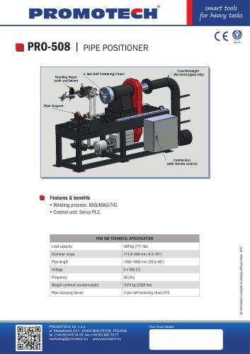 PRO 508 Multi axis welding positioners