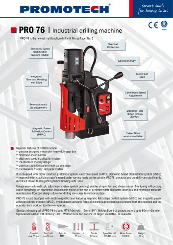 PRO-76 Industrial Mag Drill