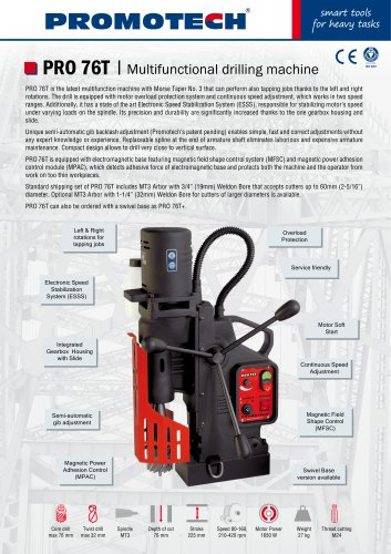 PRO-76T Multifunctional Mag Drill