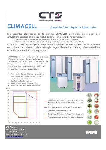 Brochure gamme « CLIMACELL »