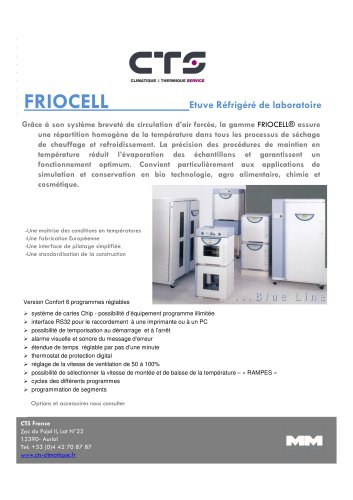 Brochure gamme « FRIOCELL »