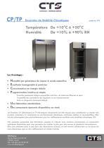 CP/TP Enceintes de Stabilité Climatiques