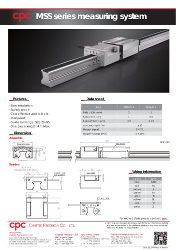 MSS series measuring system