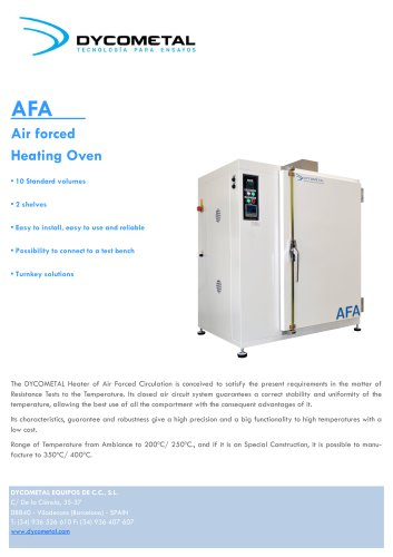 FORCED AIR HEATING OVEN, AFA